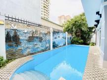 CHO THUÊ  Villa 10x20m hầm trệt 2 lầu 4P,hồ bơi  An Phú QUẬN 2
