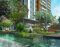 Cho thuê căn hộ The Vista quận 2, nhà 2 phòng ngủ, view hồ bơi,đầy đủ tiện nghi,giá 1000USD