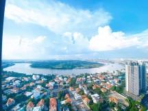 Cho Thuê Căn Hộ  Masteri Thảo Điền 65m² 2PN Tầng Cao View Sông